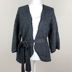 Anthropologie Guinevere Geste Grey Knit Cardigan